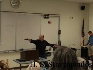 John Gilstrap demonstrating how not to shoot.